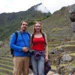 Couple, Machu Picchu, Pérou