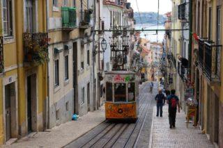 Lisbonne, Portugal, tram, élévateurs, funiculaires