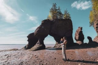 Nouveau Brunswick, Canada, voyage, roadtrip, Baie de Fundy, Hopewell Rocks